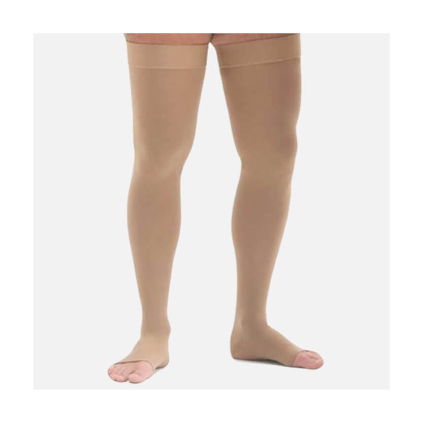 Medi Mediven Sheer & Soft Open Toe Thigh-High W/ Silicone Top Band