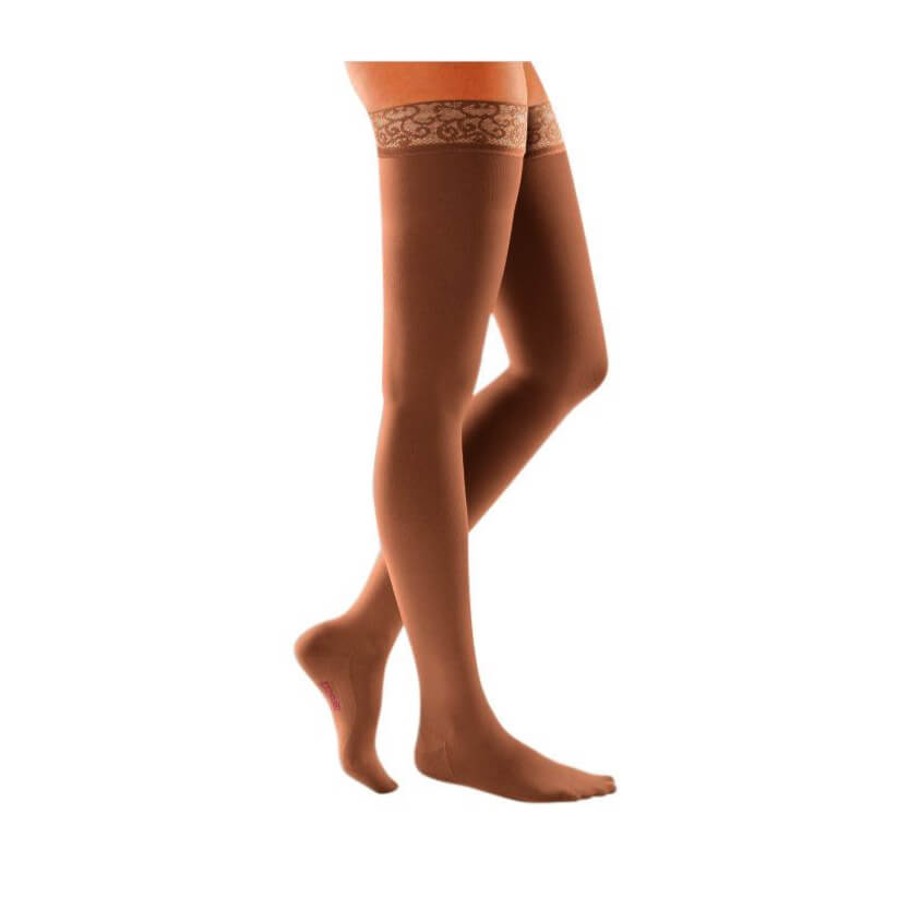 Medi Mediven Comfort Thigh High Compression Stocking W/Lace Top Band