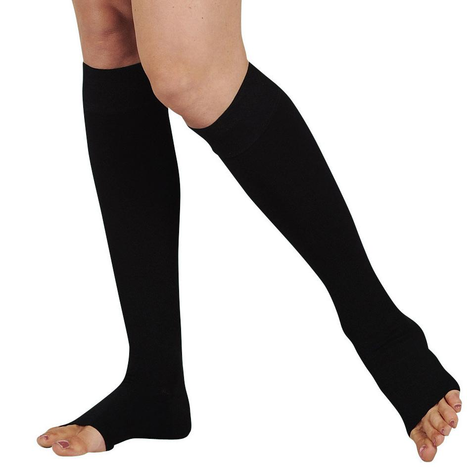 Juzo Dynamic Open-Toe Knee High W/5cm Silicone Band
