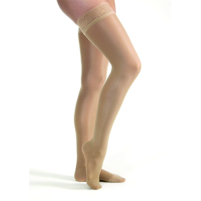BSN Jobst UltraSheer Thigh-High Closed Toe W/Lace Petite
