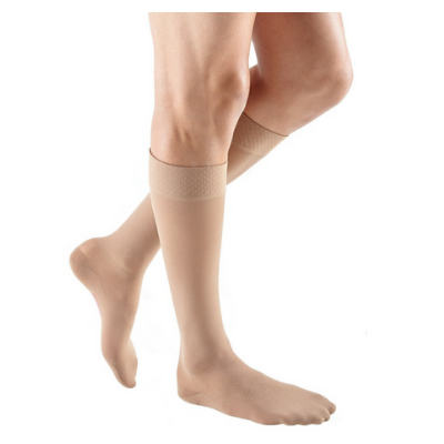 Medi Mediven Plus Closed Toe Knee High W/Silicone Top Band