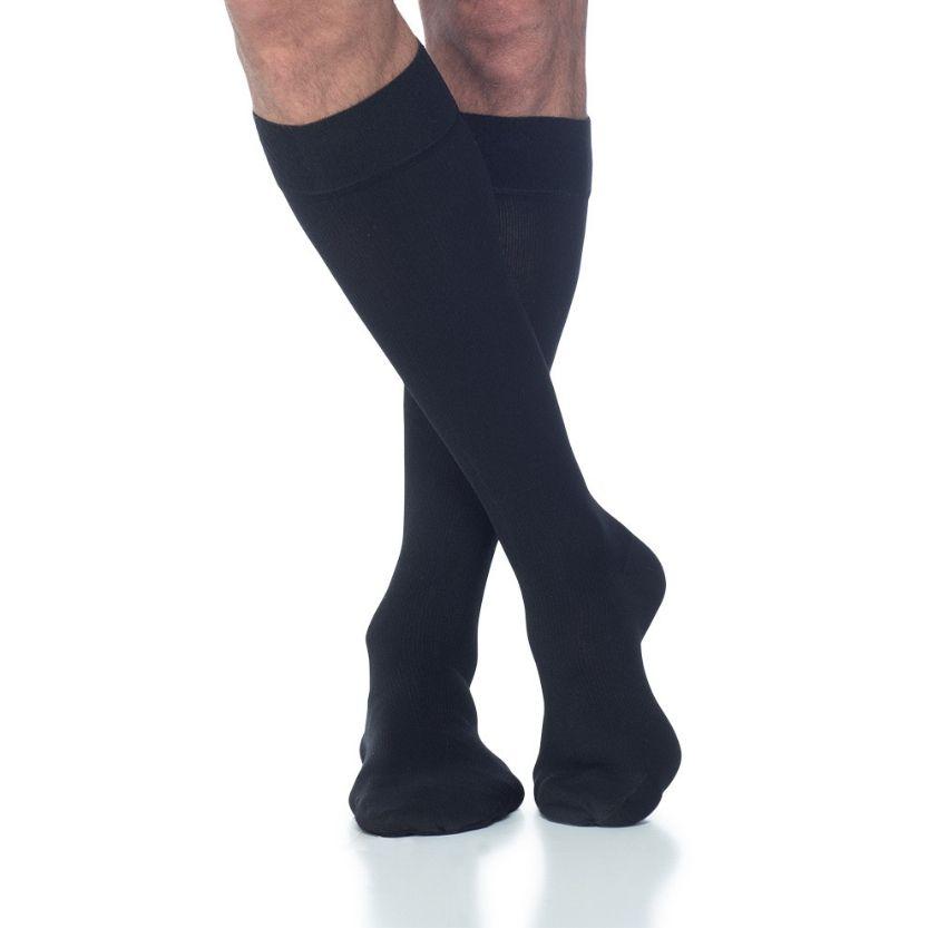 Sigvaris Men's Cotton Closed Toe Calf Stocking