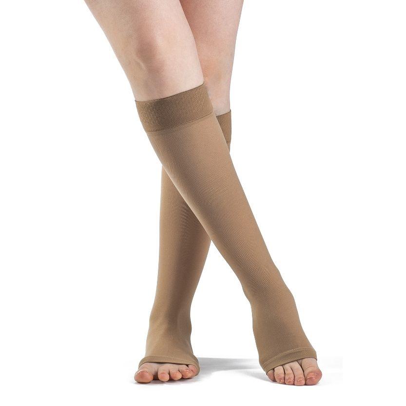 Sigvaris Essential Opaque Calf W/Grip-Top Open Toe