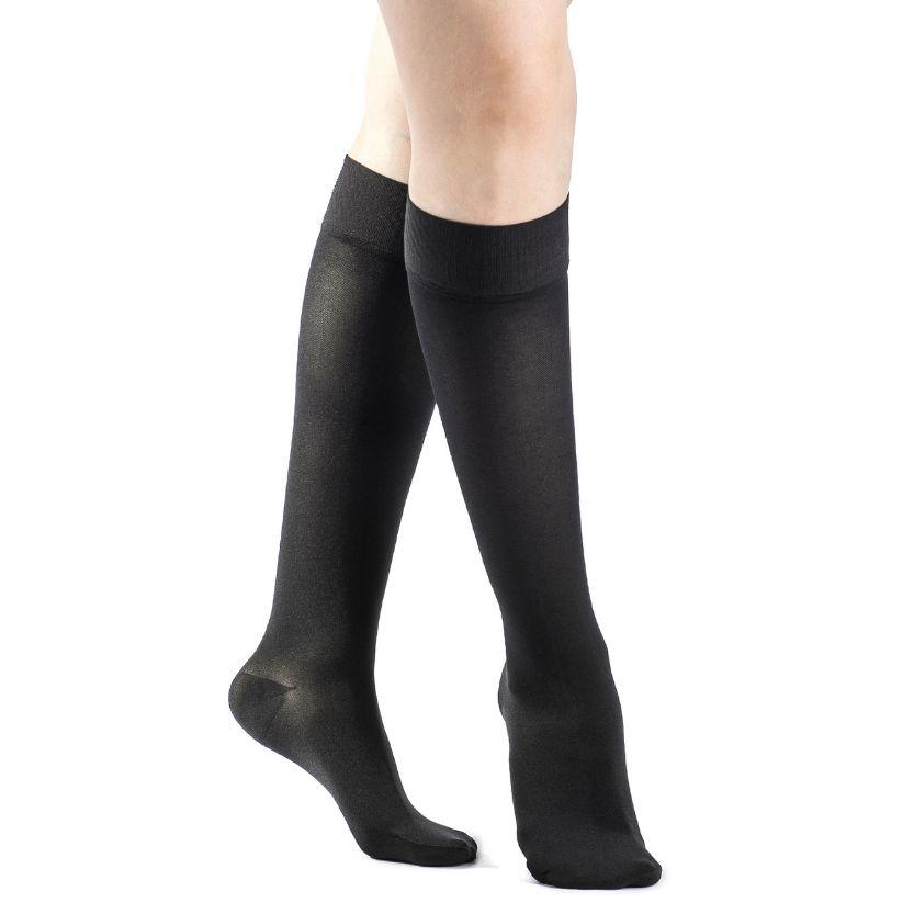 Sigvaris Essential Opaque Calf W/Grip-Top Closed Toe