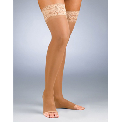 BSN Jobst Activa Sheer Therapy Thigh Open Toe Lace