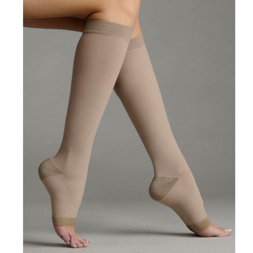 Juzo Silver Soft Knee Highs Open Toe