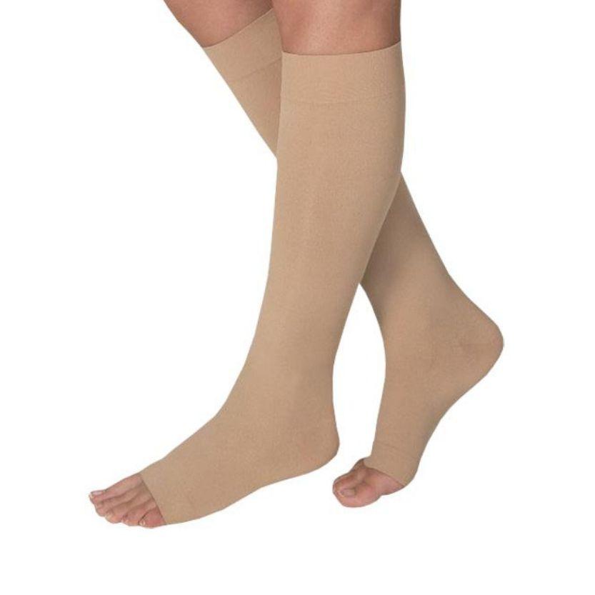 BSN Jobst Opaque Knee Open Toe Petite