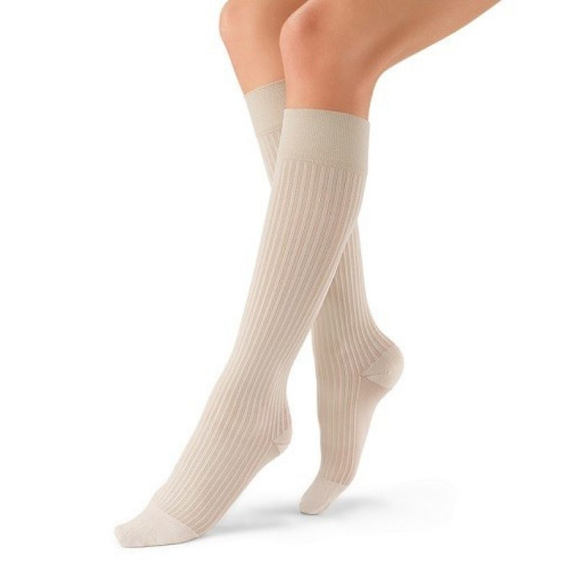 BSN Jobst SoSOFT Knee High Ribbed Socks Closed Toe