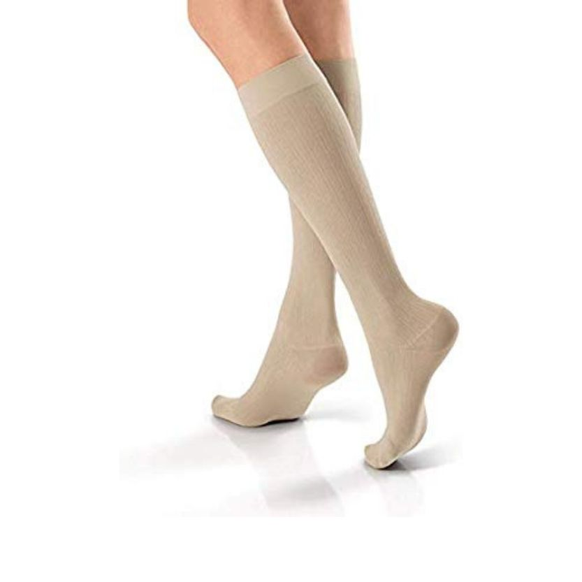 BSN Jobst SoSOFT Knee-High Brocade Closed Toe Socks
