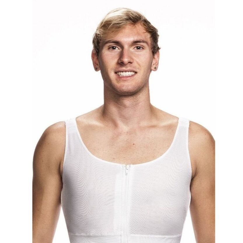 Wear Ease Men's Compression Vest + 2 Drain Pouches
