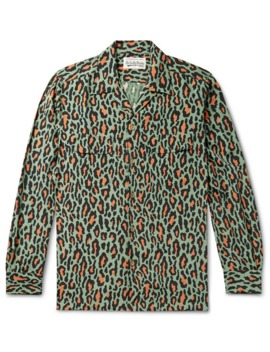 camp-collar-leopard-print-cotton-shirt by wacko-maria