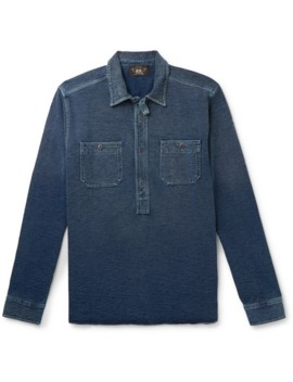 cotton-terry-half-placket-shirt by rrl
