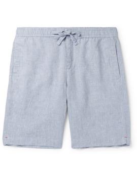 slim-fit-linen-chambray-drawstring-shorts by orlebar-brown