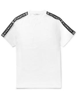 logo-jacquard-cotton-jersey-t-shirt by givenchy