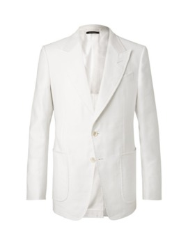 white-shelton-slim-fit-cotton-and-linen-blend-suit-jacket by tom-ford