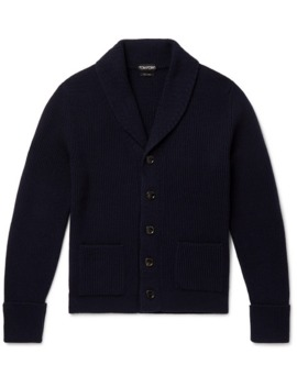 slim-fit-shawl-collar-ribbed-cashmere-cardigan by tom-ford