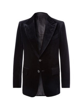 midnight-blue-shelton-slim-fit-velvet-suit-jacket by tom-ford
