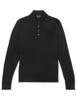 slim-fit-merino-wool-polo-shirt by tom-ford