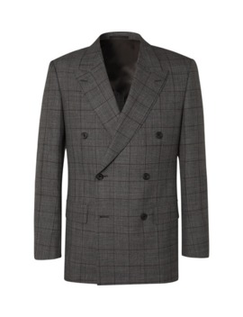 grey-slim-fit-double-breasted-prince-of-wales-checked-wool-suit-jacket by kingsman