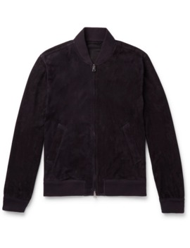 unlined-suede-bomber-jacket by kingsman