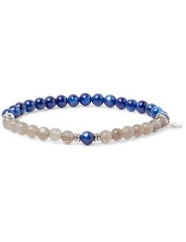 kyanite,-labradorite-and-sterling-silver-bracelet by peyote-bird