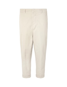 cropped-tapered-cotton-twill-trousers by ami