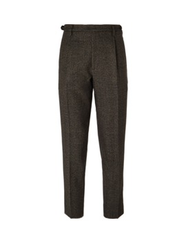 brown-tapered-cropped-puppytooth-wool-suit-trousers by barena