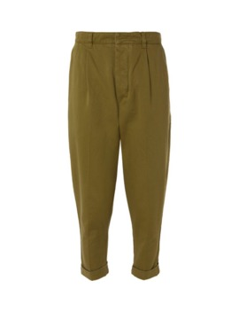 pleated-cotton-twill-chinos by ami