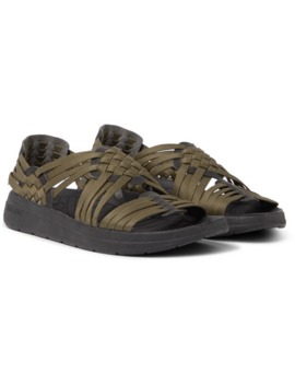 canyon-woven-nylon-webbing-and-faux-leather-sandals by malibu