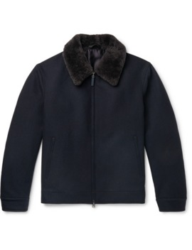 shearling-trimmed-wool-bomber-jacket by brioni