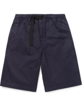 Wide Leg Cotton Drill Drawstring Shorts by Dries Van Noten