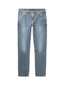 lean-dean-slim-fit-tapered-organic-stretch-denim-jeans by nudie-jeans