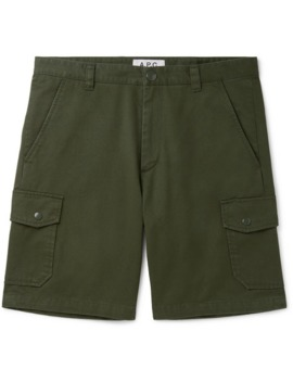 slim-fit-cotton-twill-cargo-shorts by apc