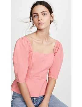 Short Sleeve Cotton Top by La Vie Rebecca Taylor