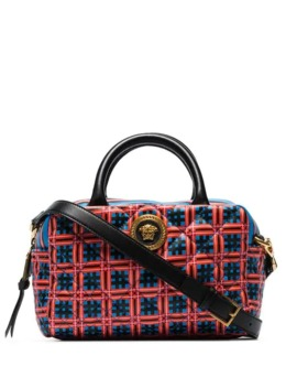 red-and-blue-quilted-top-handle-leather-cross-body-bag by versace