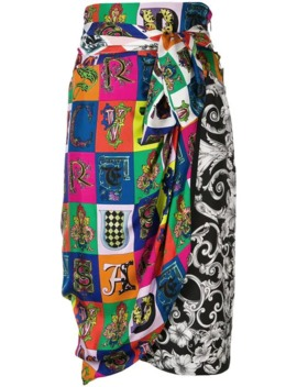 printed-wrap-skirt by versace