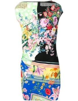 contrast-print-dress by versace