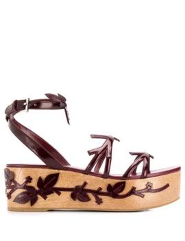 Appliqué Platform Sandals by Prada
