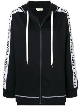 logo-zipped-hoodie by fendi