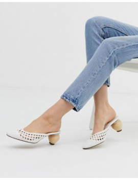 bershka-woven-mules-with-interest-heel-in-white by bershka