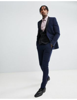 Asos Design Super Skinny Tuxedo In Navy by Asos Brand