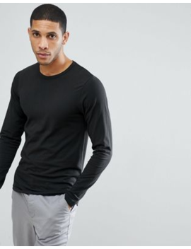 Jack &Amp; Jones Essentials Long Sleeve T Shirt In Black by Jack & Jones