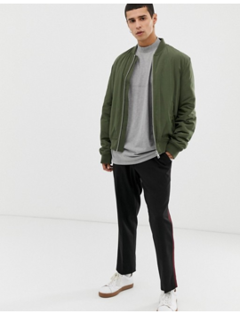 Asos Design Oversized T Shirt With Seam Detail &Amp; Turtleneck In Gray Marl by Asos Design