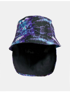 Asos Design Bucket Hat In Tie Dye With Neck Cover by Asos Design