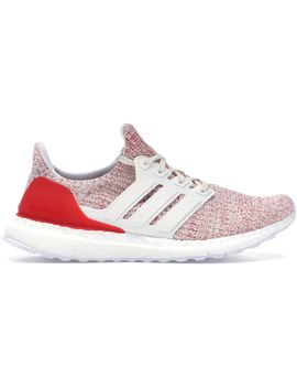 012d97f5 Shoptagr | Adidas Ultra Boost 4.0 Chalk White Active Red (W) by Stock X