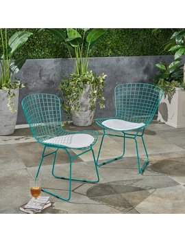 Hively Patio Dining Chair With Cushion by Ebern Designs