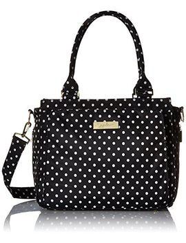Ju Ju Be Be Classy Structured Multi Functional Multi Functional Diaper Bag/Purse, Legacy Collection   The Duchess   Black With White Polka Dots by Ju Ju Be