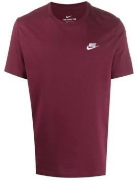 Logo Print Crew Neck T Shirt by Nike