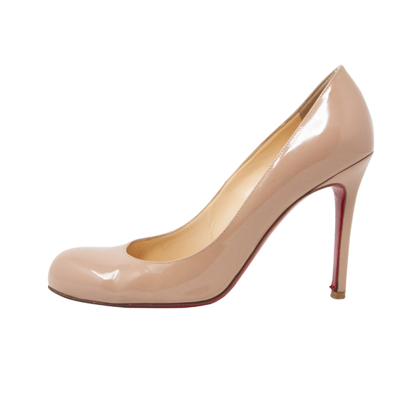 huge selection of f210c 0c989 CHRISTIAN LOUBOUTIN Leather Round-Toe Pumps