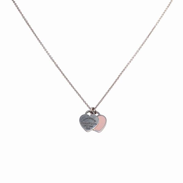 Tiffany Co Return To Tiffany Mini Double Heart Tag Pendant